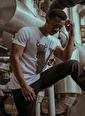 XHAN Beyaz Taşlı T-Shirt  Beyaz